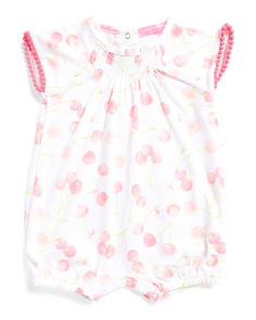 Newborn Girls Cherry Romper