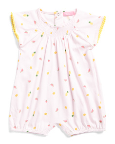 Newborn Girls Fruit Romper