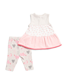 fa73b3c4b0da4 ... Newborn Girls 2pc Animal Dress With Leggings