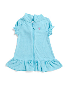 Toddler Girls Terry Hooded Cover Up Dress