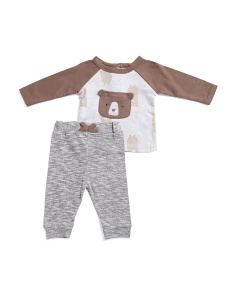 Newborn Boys 2pc Bear Pants Set