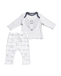 Newborn Boys 2pc Fox Pants Set