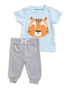 Newborn Boys 2pc Lion Pants Set