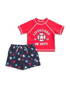 Infant Boy Lifeguard On Duty Rashguard Set