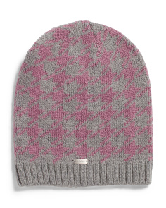 Margot Houndstooth Beanie