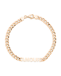 Made In Italy 14k Gold Amour Curb Chain Bracelet