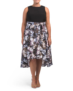 Plus Hi Lo Floral Skirt Dress