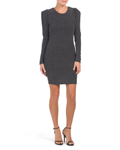 Puff Sleeve Bodycon Knit Dress
