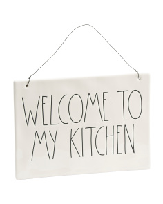 Welcome To My Kitchen Wall Plaque