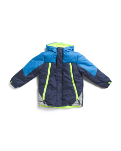 Little Boys Color Block Snow Jacket