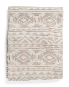 Aztec Knit Throw