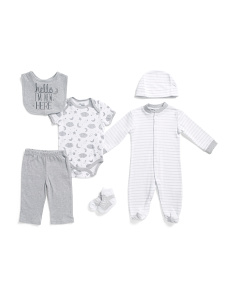 Newborn Boys 6pc Layette Set