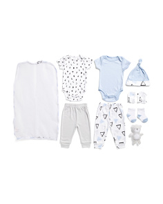 Newborn Boys 9pc Abc Layette Set