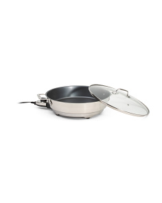 Stainless Steel Electric Skillet