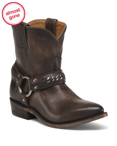 Western Harness Leather Boots