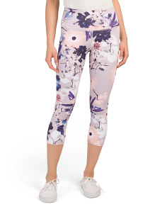 High Waist Orchid Printed Capris
