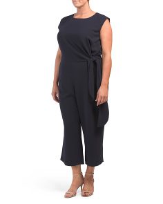 Plus Sleeveless Crepe Jumpsuit