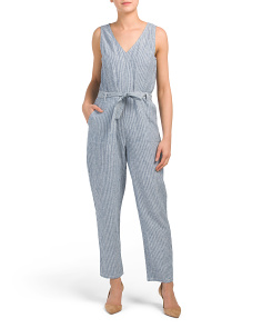 Railway Stripe Jumpsuit