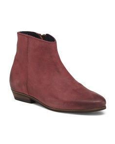 Made In Portugal Wedge Leather Booties
