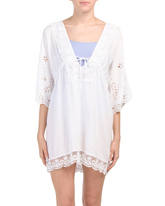 Eyelet Crotchet Cover-up Tunic