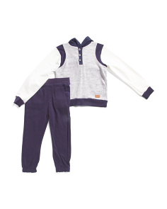 Little Boys 2pc Hoodie And Jogger Set