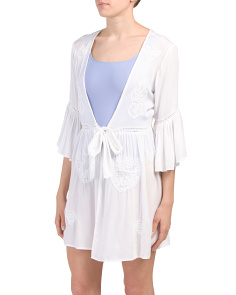 Bell Sleeve Swim Cover-up