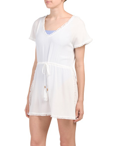 Drawstring Cover-up Dress