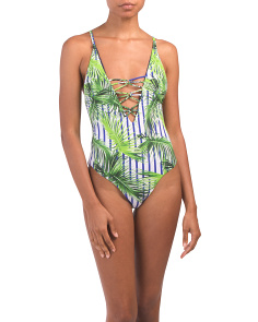 Palm One-piece Swimsuit