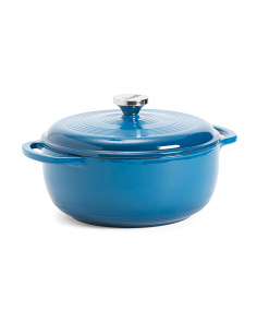 4.5qt Cast Iron Dutch Oven With Stainless Steel Knob