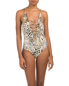 Animal Print One-piece Swimsuit