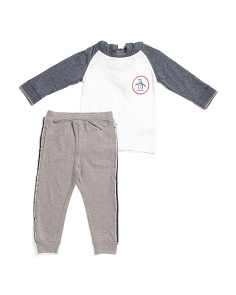 Little Boys Hoodie And Jogger Set
