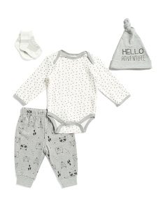 Newborn Boys 4pc Hello Layette Set