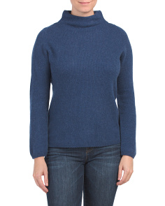 Made In Italy Cashmere Funnel Neck Sweater