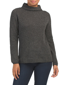Extrafine Merino Wool Funnel Neck Ribbed Sweater
