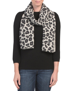 Leopard Printed Cashmere Scarf