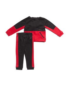 Little Boys 2pc Hooded Techno Fleece Set