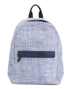 Plaid Woven Fabric Backpack
