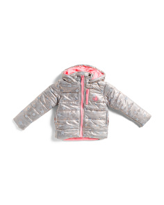 Little Girls Printed Star Puffer Jacket