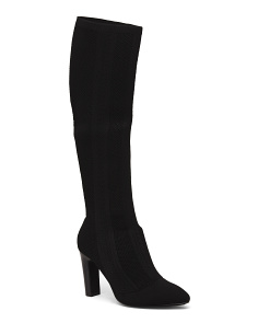 Stretch Knit Knee High Boots