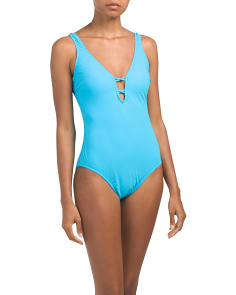 Java Solid One-piece Swimsuit