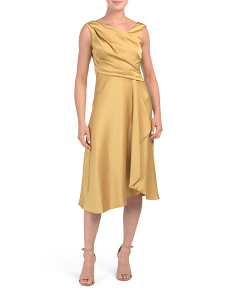Petite Pebble Satin Midi Dress