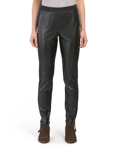 Ponte Pleather Mix Pants