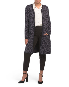 Animal Print Car Coat