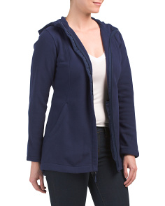 Petite Hidden Zip Fleece Active Jacket
