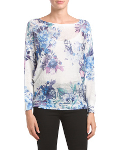 Made In Italy Floral Tape Yarn Sweater