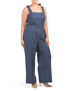 Plus Stripe Kate Jumpsuit