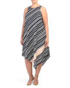 Plus Stripe Sunset Midi Dress