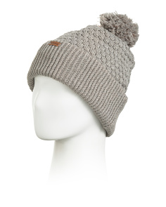 Ballie Beanie With Pom