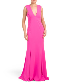 Victoria V-neck Gown