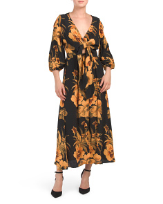 Oliviera Caribbean Print Midi Dress